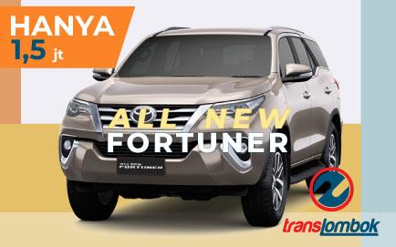 rental all new fortuner lombok
