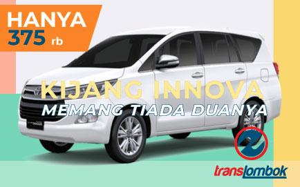 sewa innova di lombok