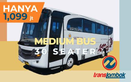 bus wisata 30 seat lombok