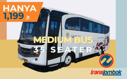 sewa bus 35 seat lombok
